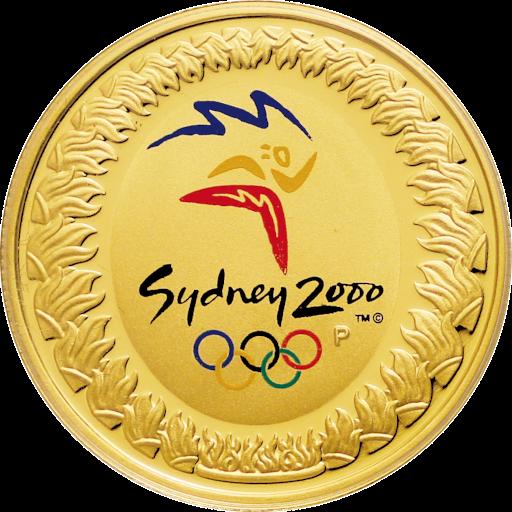 初のオリンピックカラーコイン