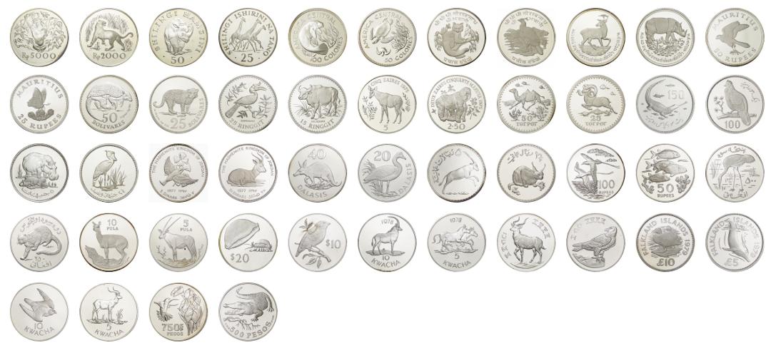 動物保護を目的とした記念コイン
