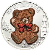 ~スイスで作られた刺繍が付属したコイン~
