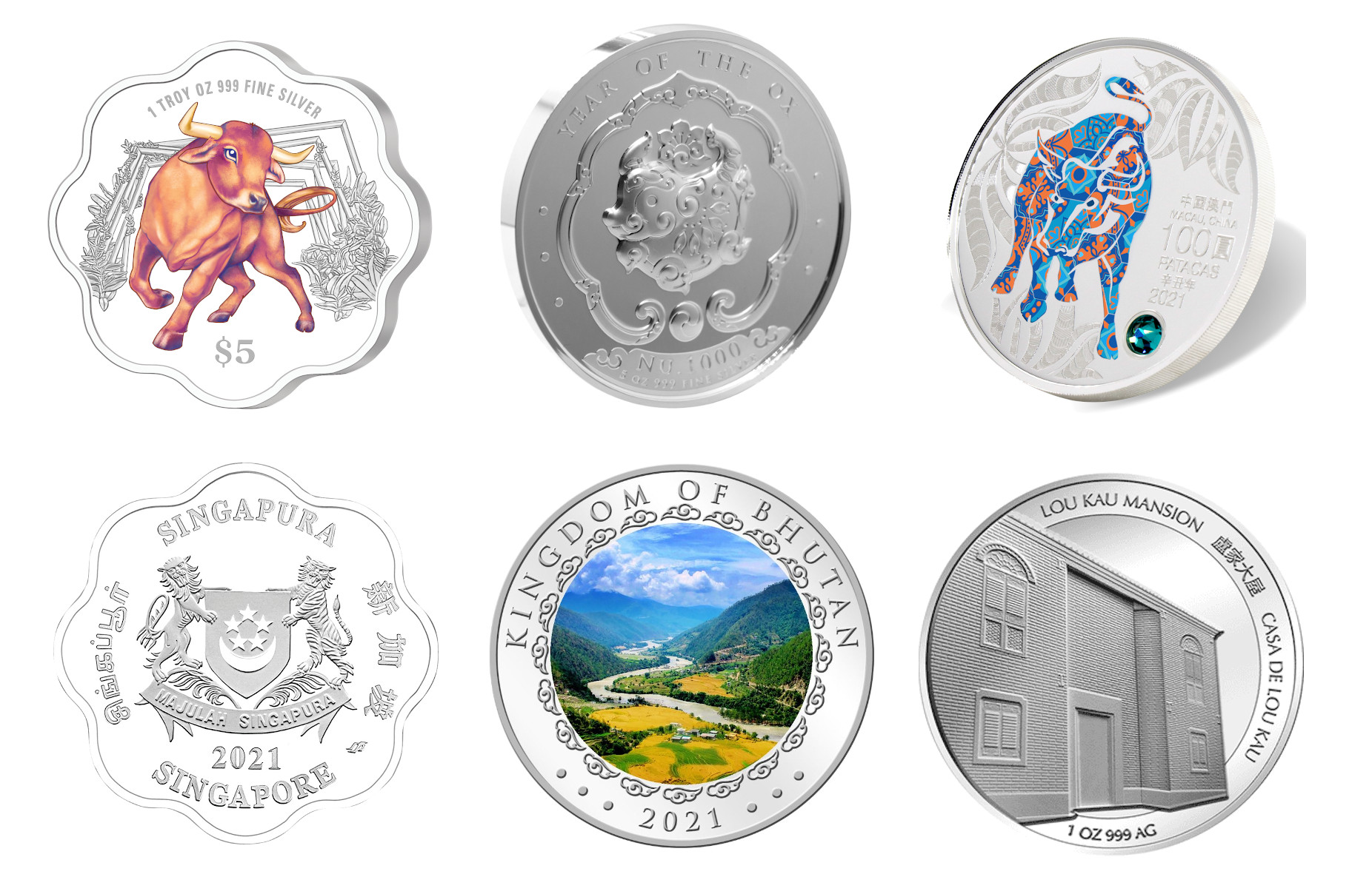 シンガポール鋳造の干支コイン
