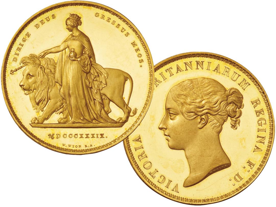 世界で一番美しい金貨のウナとライオン