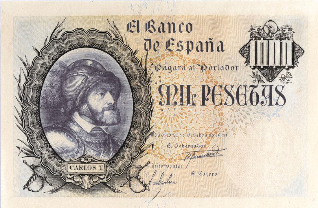 FNMTが初めて印刷した1000ペセタ紙幣