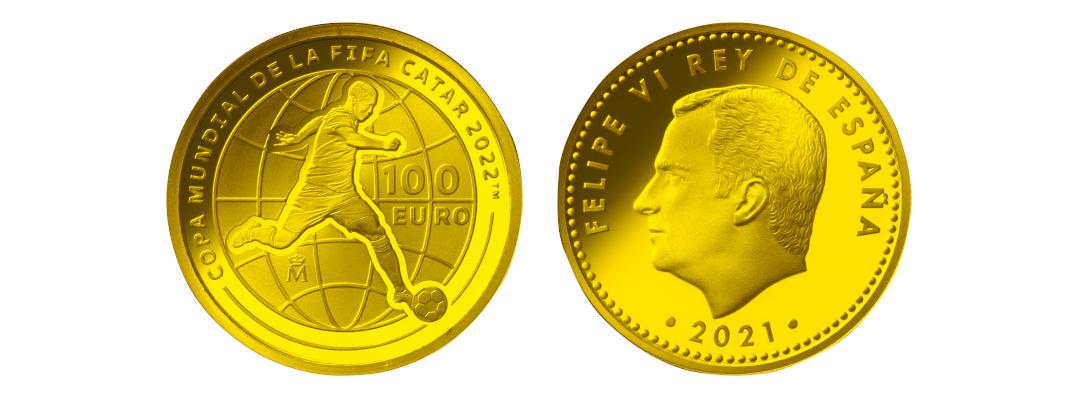 スペインのFIFAワールドカップカタール2022公式記念コイン