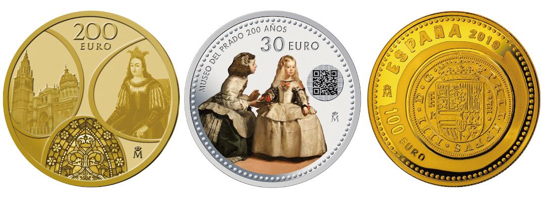 王立スペイン造幣局の代表的な記念貨