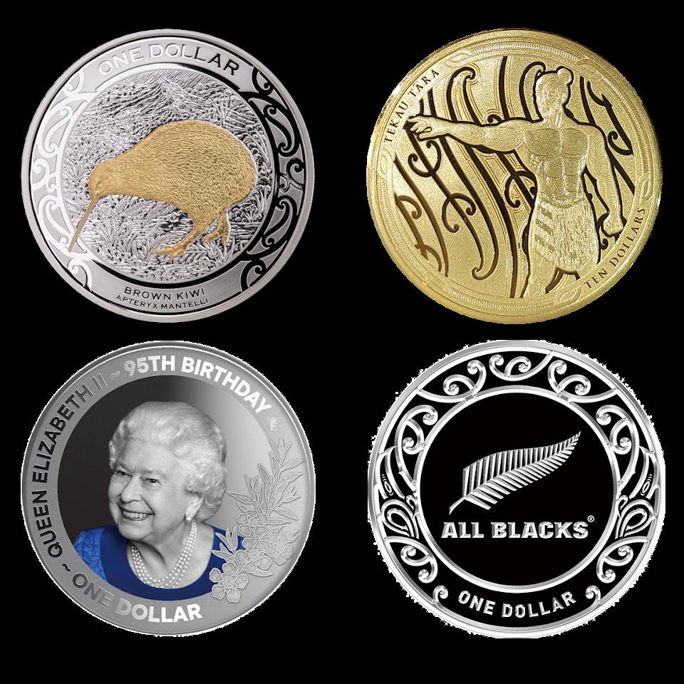 ニュージーランド・ポストの代表的な記念貨